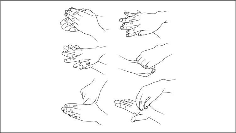 Die richtige Händehygiene - Händedesinfektion